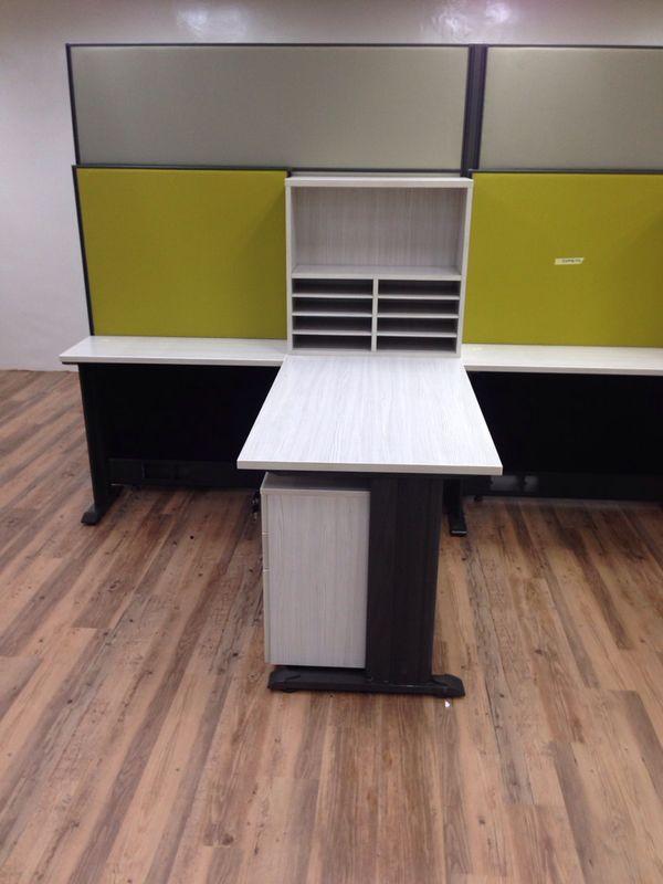 Pin Board & Open Shelf on Table Top (3)