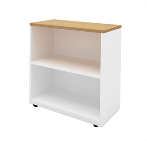 Low Height Open Shelf Cabinet Decor Viz System