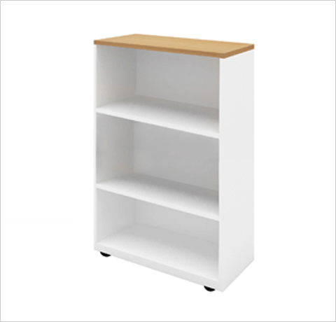 Mid Height Open Shelf Cabinet | Decor Viz System