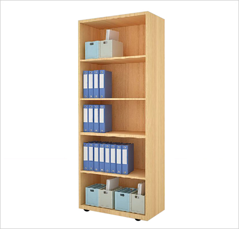 Full Height Open Shelf Cabinet Decor Viz System